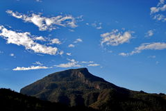 Mountain and blue sky Stock Image