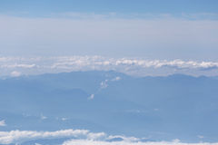 Mountain and blue sky in high views. Royalty Free Stock Photos