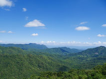 Mountain with blue sky at Khao Kho Royalty Free Stock Photo