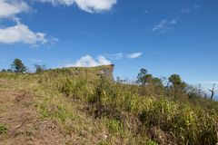 Mountain with blue sky at Phu Chee Pha in chiangrai province Thailand. Southeast asia royalty free stock images