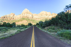 Mountain with blue sky at Zion national park Royalty Free Stock Photography