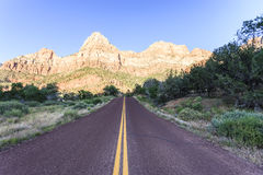 Mountain with blue sky at Zion national park Royalty Free Stock Photos