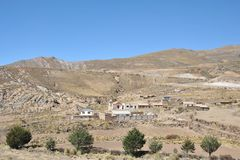 Mountain Bolivian villages in the Altiplano Royalty Free Stock Photography
