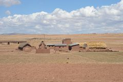 Mountain Bolivian villages in the Altiplano Stock Images