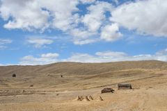 Mountain Bolivian villages in the Altiplano Stock Image