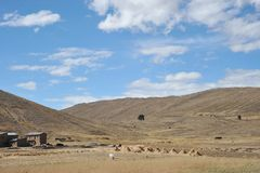 Mountain Bolivian villages in the Altiplano Royalty Free Stock Photo