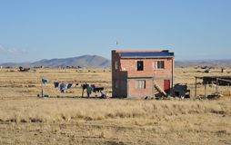 Mountain Bolivian villages in the Altiplano Stock Photos