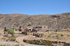 Mountain Bolivian villages in the Altiplano Royalty Free Stock Photos