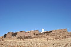 Mountain Bolivian villages in the Altiplano Royalty Free Stock Images