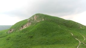 Mountain bolshoye sedlo. The walk to the top of the mountain, green, path, walk, park Royalty Free Stock Photo