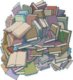 A mountain of books Royalty Free Stock Image