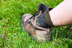 Mountain boot Royalty Free Stock Photo