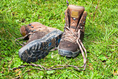 Mountain boots Stock Image