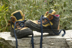 Mountain boots Royalty Free Stock Images