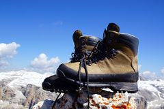 Mountain boots. Stock Photography