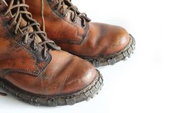 Mountain boots Stock Photography