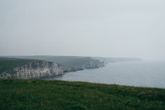 Mountain break by the sea, ocean, nature, meadows Royalty Free Stock Image
