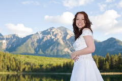 Mountain Bride Royalty Free Stock Photos