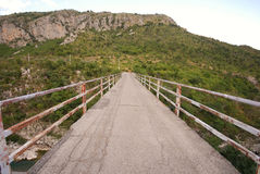 Mountain bridge Royalty Free Stock Photos