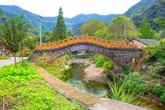 Mountain Bridge of Shisun China royalty free stock photography