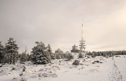 Mountain Brocken in Harz, Wintertime Stock Image