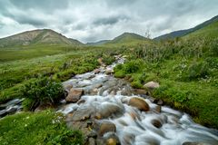 Free Mountain Brook In Blurred Motion Stock Image - 35334201