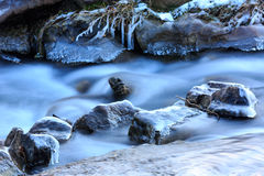 Mountain brook in winter Royalty Free Stock Photography