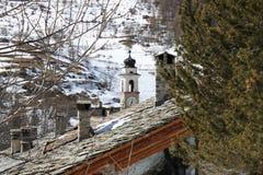 Mountain building Stock Image