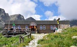 Mountain building in nature. High tatras and mountain building ,Slovakia, Europe Stock Photos