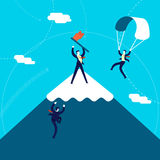 Mountain business goal concept illustration Royalty Free Stock Photo