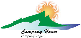 Mountain business logo Stock Images