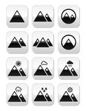 Mountain  buttons set Stock Image