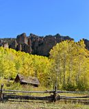 Mountain cabin. Cabin tucked away in the Colorado Rockies Royalty Free Stock Images