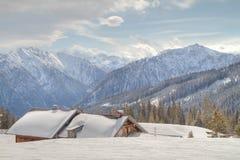 Mountain cabin Stock Image