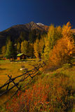 Mountain Cabin. Cute cabin in the mountains of Colorado in fall Stock Photography