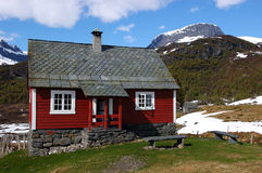 Mountain cabin. Old cabin in Norway Royalty Free Stock Photography