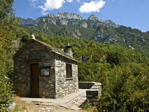 Mountain Cabin. Stone Cabin in the Añisclo Canyon (Bielsa, Spain Royalty Free Stock Images