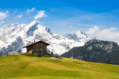Mountain cabin in alps Royalty Free Stock Photos