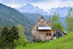 Mountain cabin Royalty Free Stock Images
