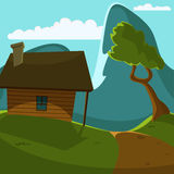 Mountain Cabin Stock Photo