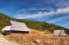 Mountain cabin (cottage) in polish Tatra mountains Royalty Free Stock Image