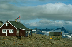 Mountain cabin at Fannaraken Royalty Free Stock Photography