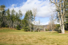 Mountain Cabin Rentals. The mountain area around Lake Toxaway have many mountain cabins for rent all year long which is a big business in the area Stock Photos