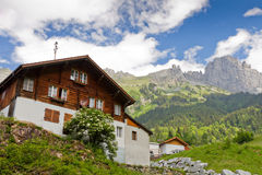Mountain cabin in summer Stock Image