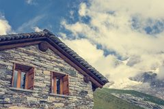 Mountain cabin. Stock Images