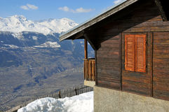 Mountain cabin with a view Stock Image