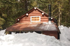 Mountain cabin. E at cypress mountain vancouver Royalty Free Stock Image