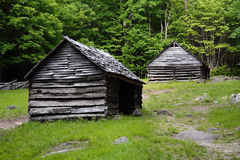 Mountain Cabins Royalty Free Stock Photo