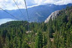 Mountain cable car Royalty Free Stock Images