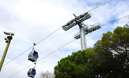 Mountain Cable Car Montjuic Royalty Free Stock Photography